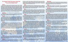 Оборотная сторона буклета с описанием празднования Нового года в разных странах.
